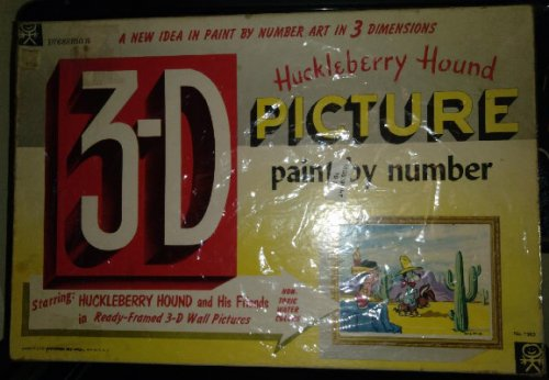 Hucklrberry Hound paint by number 3-D Picture